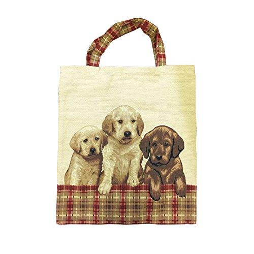 Wiederverwendbare Leineneinkaufstasche im Signare Stil, Öko-Tasche Hund