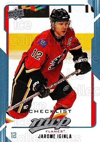 (CI) Jarome Iginla, Checklist Hockey Card 2008-09 Upper Deck MVP (base) 298 Jarome Iginla, Checklist