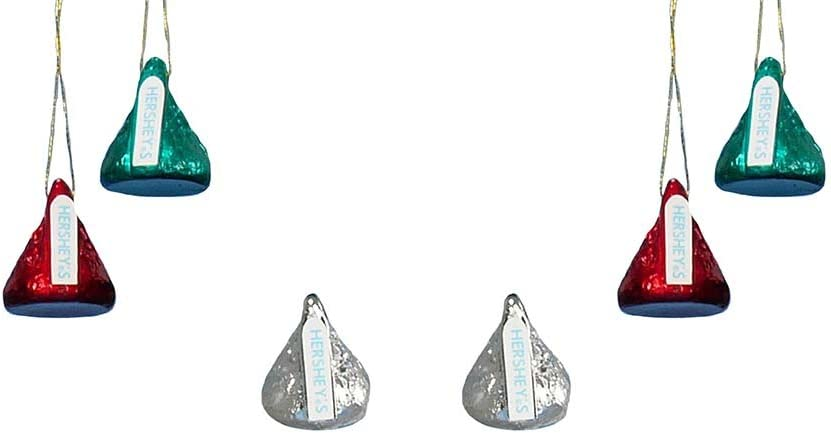 HERSHEY'S Kurt Adler Plastic Mini Kisses Ornament, Set of 6
