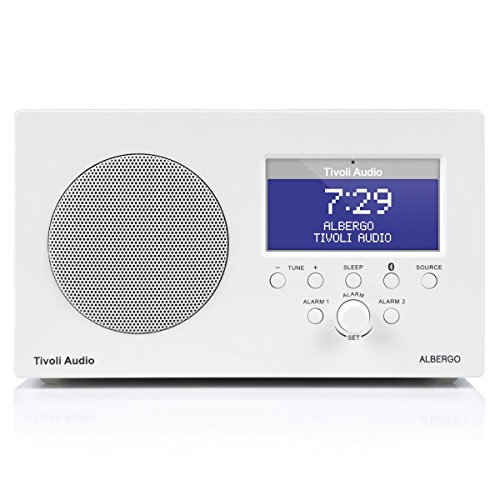 Tivoli Audio Albergo Bluetooth Clock Radio (White) (Boston Acoustics Clock Radio)