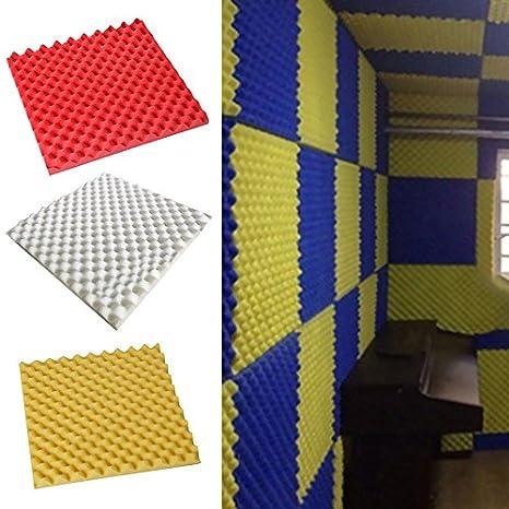 50 x 50 x 3 cm Egg Alta Densidad paneles de espuma a prueba de sonido espuma de insonorización de espuma acústica Studio equipo de música por autone blanco: ...