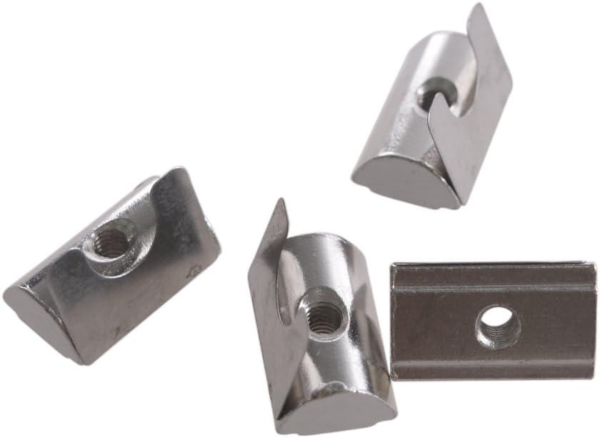 Glvanc Silver Tone europ/äischen Standard 30 und 40 Series Aluminium Slot Carbon Steel Half Runde Rolle im Fr/ühjahr T Slot Nut mit M4 Gewinde 30Pcs