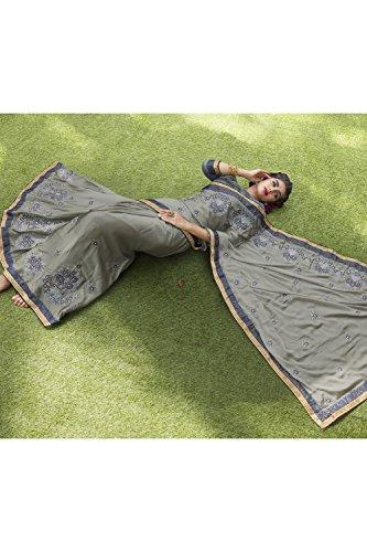 Da Facioun Saris Indiens Pour Les Femmes Concepteur Mariage Gris Partie Portent Sari Traditionnel