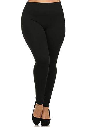 7aca8ad88bf929 Leggings Mania Fleece Lined Plus Size Thick High Waisted Leggings Black