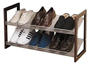 Rubbermaid 2-Tier Stackable Shoe Shelf