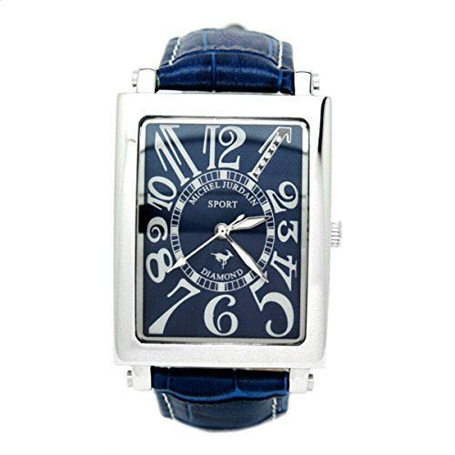 [Michel Jordan] michel Jurdain watch sports diamond leather all-blue SG3000-8 Men's by michel Jurdain (Michel Jordan)