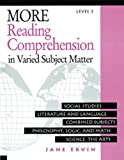 More Reading Comprehension in Varied Subject Matter Level 3, Jane Ervin, 0838806082