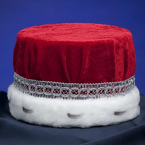 Men's Red and Silver Royal Pill Box Hat - DeluxeAdultCostumes.com