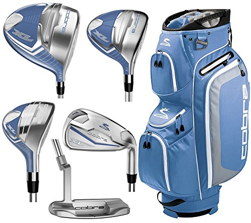 2017 Cobra XL Complete Set Blue-White (Women's, Right Hand, Graphite, Ladies Flex)