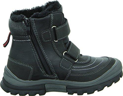 Sneakers 1335-16 Jungen Stiefel Schwarz Wasserabweisend Warm Gefüttert