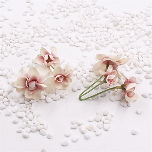2pcs diy wreath material simulation hydrangea bouquet lovely cherry blossom bridal headdress wedding decoration flower (Bride Dress Peony Style)