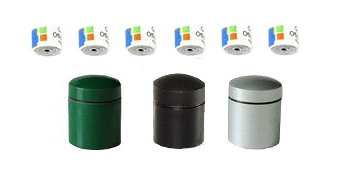 Geo–3x Nano magnético de envío Color Negro de plata de color verde con 6Log rayas, multicolor, One size, 11097 I5JEY #GEO-VERSAND
