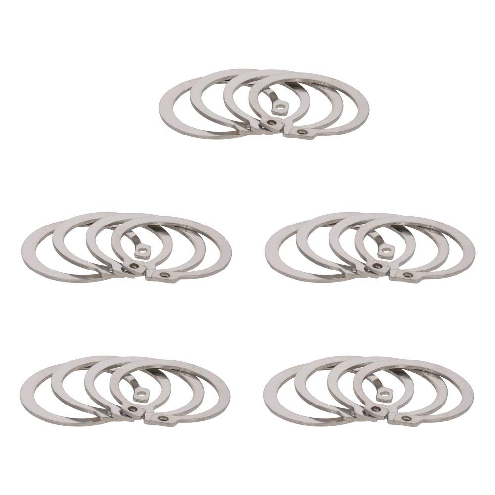 MroMax 304 Stainless Steel Sliver Tone External Circlip Retaining Shaft Snap Clip Rings 17mm 50pcs