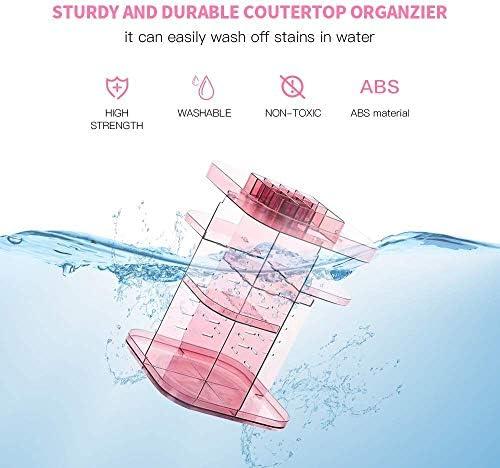棚を仕上げ透明回転化粧品収納ボックスデスクトップ口紅スキンケア (Color : Transparent)