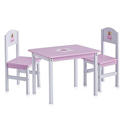 Zeller 13442 Princess - Juego de muebles infantiles de tablero DM (3 ...