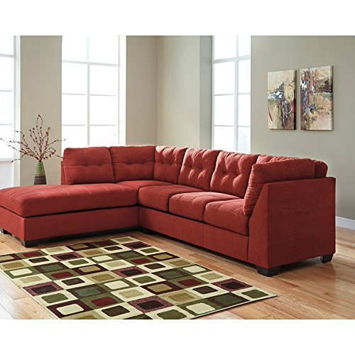 StarSun Depot Benchcraft Maier Sectional with Left Side Facing Chaise in Sienna Microfiber 114