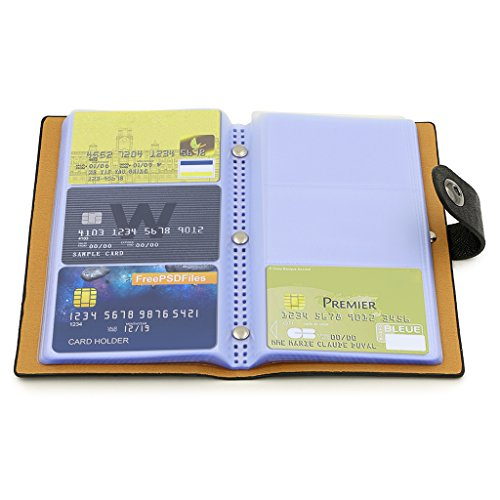 BTSKY Book Style Credit Card Holder Business Name Card Book ID Card Organizer--For 240 Business Cards (Black)