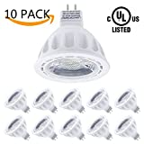 LightStory MR16 LED Bulbs, 12 Volt, 5W 450lm, 50W Halogen Bulbs Equivalent, 3000K Warm White, 40° Beam Angle Non-Dimmable MR16 GU5.3 LED Light Bulbs, UL Listed, Pack of 10