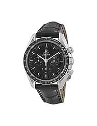 Omega Speedmaster Black Leather Mens Watch 31133423001001