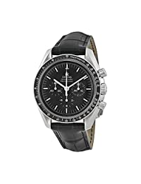 Omega Speedmaster Black Leather Mens Watch 31133423001001