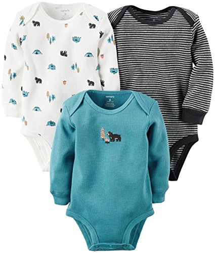 Carter's 3 Pack Side Snap Bodysuits (Baby) - Multi - 3 Mo...