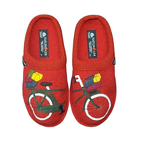 Haflinger Womens Cykel Täppa Röda