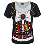 : Funny World Women's Pirate Halloween T-Shirts (4XL, Black)