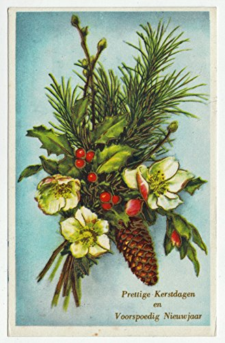 Merry Christmas and Prosperous New Year Vintage Original Postcard #0172 - 1962