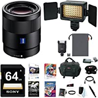 Sony 16-35mm E-Mount Lens, HVLF20M Flash, HVLLE1 Video Light Bundle Pack