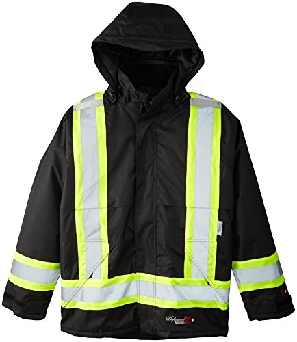 Viking Professional Insulated Journeyman FR Waterproof Flame Resistant Jacket, Black, XL