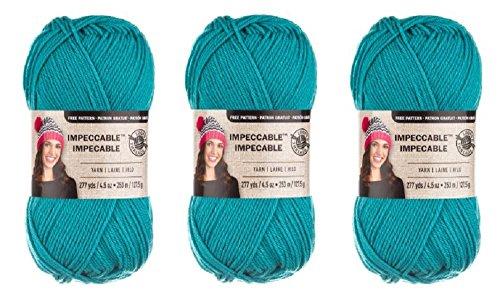 Loops & Threads Impeccable Yarn 4.5 oz Aqua (3-Pack) Aqua Loops