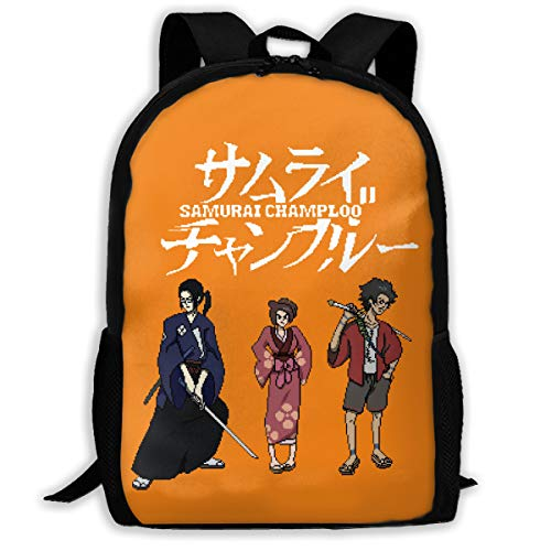 NIGHTwine Mugen And Jin Samurai Champloo Design Women's Classic School Bag Black