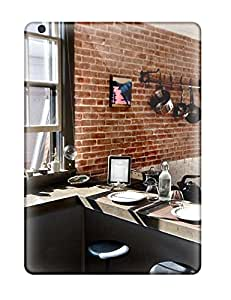 High Quality KxLHXeg10582LRzYI Rustic Industrial Kitchen With Exposed Brick Wall And Concrete Counters Tpu Case For Ipad Air