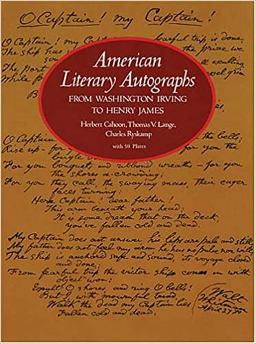 Book American Literary Autographs from Washington Irving to Henry James