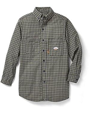Green Plaid Dress Shirt 7.5 oz