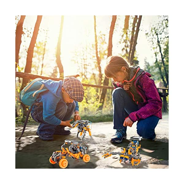RCSPACEX Stem Project Toys for Kids,11 in 1 Solar Robot Science Experiment Kit for Boys Age 8-12, 231 Pieces DIY…