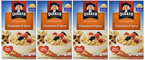 (Quaker Instant Oatmeal Cinnamon & Spice, 10-Count Boxes (Pack of 4))