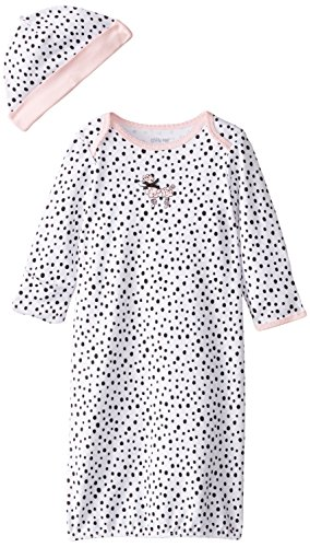 Baby Poodle Dresses - Little Me Girls' 2-Piece Gown & Hat Set, Perfect Poodle, 0-3 Months