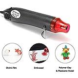 Wecando Mini Hot Air Gun 110V 300W Portable Heat Gun for Heat Shrink Tubing DIY Embossing Shrink Wrapping Drying Paint Multi Function Hand-Hold Electrical Heat Tool (Black)