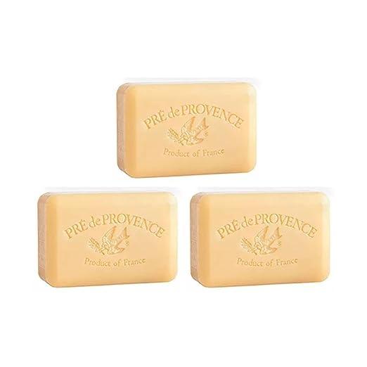 Pre de Provence Sandalwood Shea Butter Enriched Soap, 250 Gram (Pack of 3)