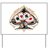 Best Sign Ace Of Diamonds - Yard Sign Four of a Kind Poker Spade Review