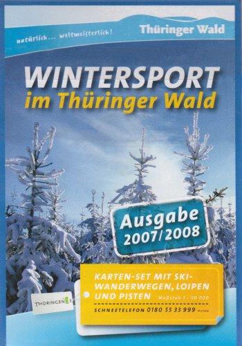 Wintersport im Thüringer Wald: Karten-Set aus 3 Karten mit Skiwanderwegen, Loipen und Pisten. Maßstab 1:50000