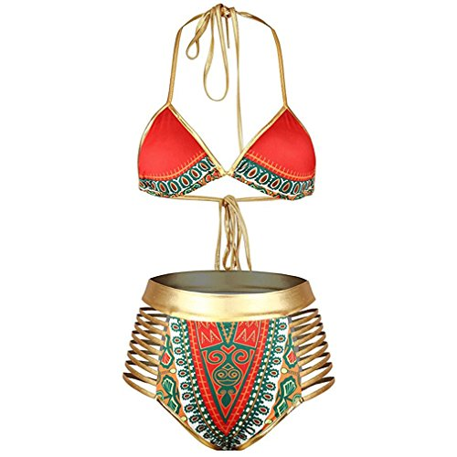 Bikini Swimsuit African Tribal Metallic