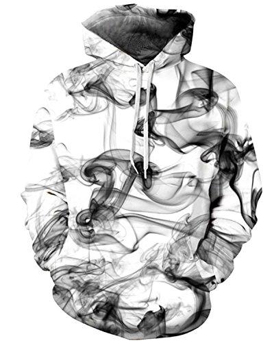 Pull Homme De Grosse Fantaisie 3d Fumée Keldorng La shirt Avec Poche Unisex Imprimé Unisexe Top Sweat Pour À Capuche Sweat n0TxAw