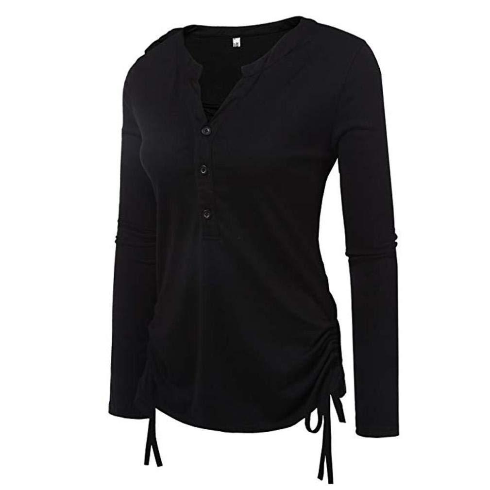 645ac914001c17 Produktbeschreibungen. Riou Langarmshirt Damen Tops Hemd Longsleeve Knopf T  Shirt ...