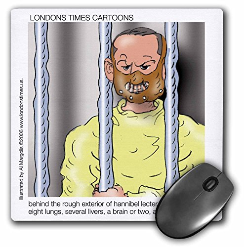 Londons Times Funny Famous Cartoons - Hannibal Lecter the Person - MousePad (mp_3419_1)