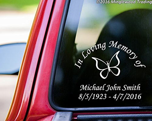 Minglewood Trading CUSTOM In Loving Memory Of vinyl decal sticker 10