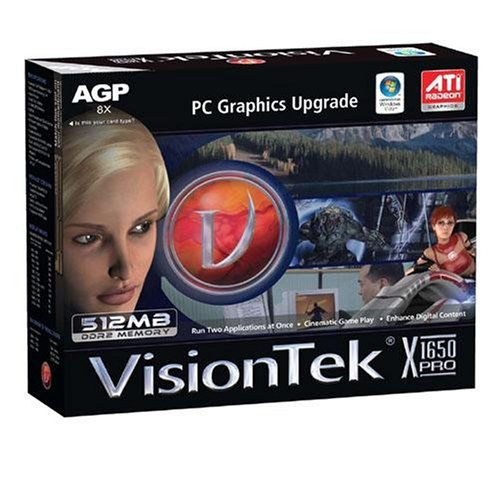 VisionTek Radeon X1650 PRO 512MB AGP (900125)
