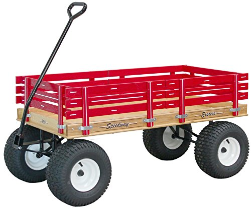 Speedway Express Wagon Model 830 Amish-made Pink with Big Wide Knobby Tires