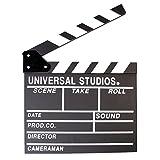 Fotga Movie Clapper 12''X11'' Clapboard Prop Chalk Board Wooden Director's Film Movie Slateboard